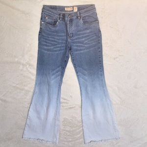 Buffalo DavidBitton ombré high waisted flair jeans